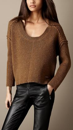 Wool-Rich Cropped Sweater | Burberry