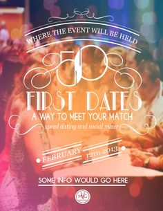 Speed Dating Flyers by Amanda Marie, via Behance