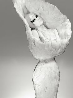Natasha Poly in Alexander McQueen, photographed by François Nars for Muse #19 F/W 2009-10. #fashion