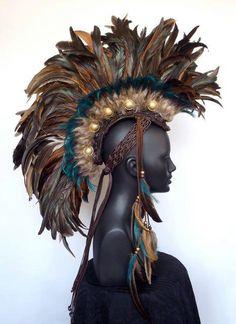 Made to Order Midsize Warrior Feather Mohawk von MissGDesignsShop, $375.00