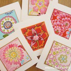fabric greeting cards - mondocherry blog