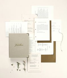 Finding the Paper: Trentina Identity System by Christine Wisnieski / Jill of Parse & Parcel for Oh So Beautiful Paper