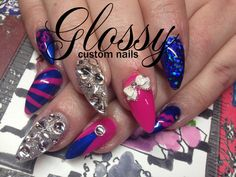 Most of them are Gel and Acrylic artificial nails but you might catch a few natural ones. Some Designs are hand painted and others are. Artificial Nails, Bling, Nail Art, Hand Painted, Gallery, Painting, Beauty, Jewel, Painting Art