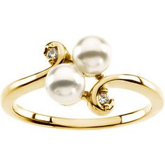 Accented Ring Mounting for Pearls | Stuller
