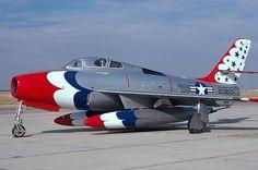 Republic F-84F Thunderstreak - Thunderbirds, United States Air Force (USAF), United States.
