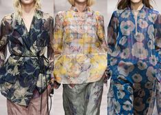 Dries Van Noten S/S 2013- Printed Organza – Clashing Plaid mash-ups – Midscale Faded Florals – Non Digital Screen Prints – Layered prints – Large Brushmark floral motifs – Pattern Mixes