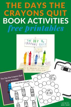 The Day the Crayons Quit Activities Free Activities, Color Activities, Reading Activities, Kindergarten Activities, Science Activities, Teaching Kindergarten, Teaching Ideas, Preschool Learning, Teaching Reading