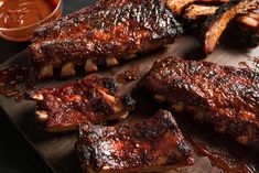 Best oven baked ribs recipe how to southern barbecue ribs recipe fall off the bone Back Ribs Recipe Oven, Recipe For Pork Baby Back Ribs, Oven Pork Ribs, Grilled Baby Back Ribs, Oven Baked Ribs, Bbq Baby Back Ribs, Pork Spare Ribs, Ribs On Grill, Pork Loin