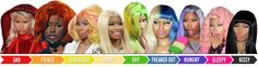 Introducing the Nicki Minaj Wig Mood-Ring, For All Your Emotional Hair Needs