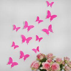 Wandkings 3D-Schmetterlinge in Neon pink von Wandkings auf DaWanda.com