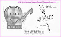 Zawieszka Crochet Home Decor, Grid, Knit Crochet, Diagram, Knitting, Crafts, Animals, Painting On Fabric, Diy And Crafts
