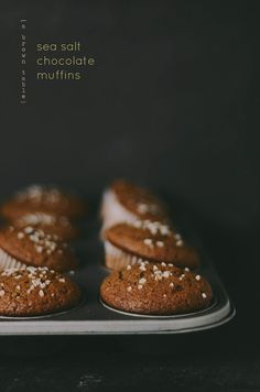 Sea Salt Chocolate Muffins | A Brown Table