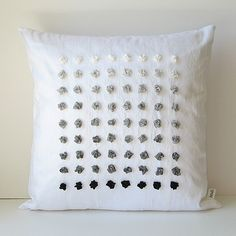 Gradient Pillow Cover ~ bstudio. different colours of silk lace? embroidery thread?