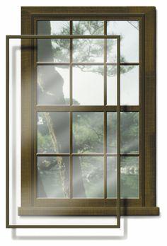 Larson Flush Mount Double Hung Storm Windows, Sandstone Color | Storm  Windows | Pinterest