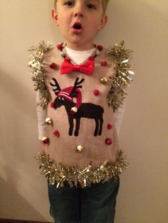 Tacky Holiday Ugly Sweater Vests – Ugly Sweaters By City Kids Ugly Sweater, Christmas Sweaters, Holiday Sweater, Tacky Sweaters, Tacky Christmas Party, Xmas Party, Holiday Fun, Christmas Ideas, Xmas