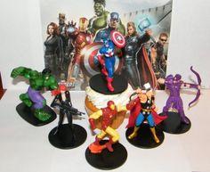 Marvel Avengers Movie Superhero Figure Cake Toppers Cupcake Decorations with Hulk, Thor Iron Man, Black Widow Etc Marvel Inc,http://www.amazon.com/dp/B008JGBMOA/ref=cm_sw_r_pi_dp_V0b3sb0R8DBF5S53
