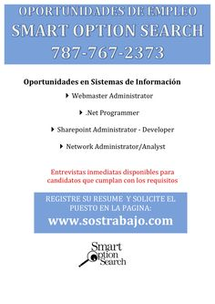 ‪¡Empleos! franjen@smartoptionsearch.com‬