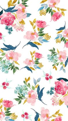 Ideas Wallpaper Android Vintage Flowers Floral Patterns For 2019 Trendy Wallpaper, Flower Wallpaper, Wall Wallpaper, Wallpaper Backgrounds, Cute Wallpapers, Iphone Wallpaper, Vintage Backgrounds, Floral Wallpaper Phone, Vintage Floral Wallpapers