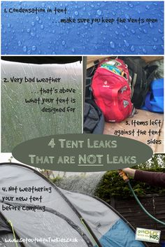 4 common ways tent leaks are misidentified