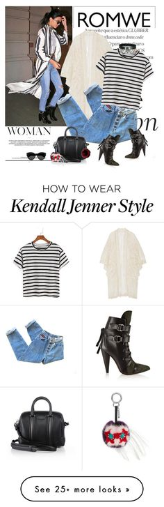 """""""Romwe"""" by polyandrea on Polyvore featuring Anna Sui, Isabel Marant, Givenchy, Fendi and Yves Saint Laurent"""