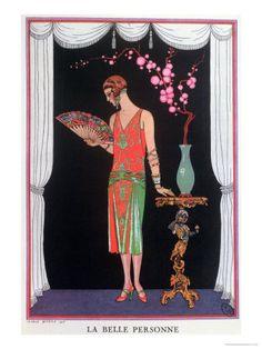 Fashion illustration by Georges Barbier ~ LÁMINAS ANTIGUAS 3-Ideas y Trabajos terminados (pág. 800)