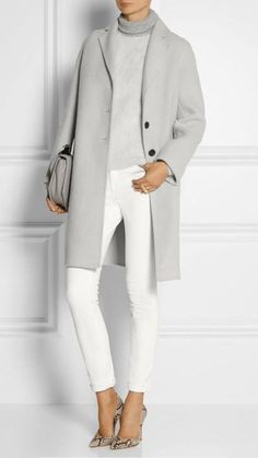 What to Wear to Office or Business Attire Ideas from Your Wardrobe MARC JACOBS Alpaca and wool blend coat Business Outfit Frau, Business Attire, Business Casual, Business Ideas, Business Women, Business Outfits, Business Fashion, Mode Outfits, Fall Outfits