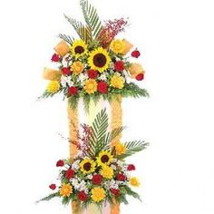 Send online Two Step Arrangement to Mumbai. Secured online payments.  Available at : www.mumbaiflowersdelivery.com/flowers/high-end-flower-arrangements.html