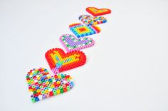 Hearts perler beads by Oontje