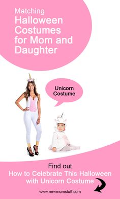 Looking for matching Halloween costumes for mom and baby daughter. Here's more than a dozen idea to help you out. Matching Halloween Costumes, Mom Costumes, Baby Girl Halloween Costumes, Unicorn Costume, Mom And Baby, Early Pregnancy, Pregnancy Tips, Parents, Daughter