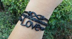 "Check out Love bracelet, unlimited bracelets, electrophoresis black bracelet, black leather bracelet, fashion jewe"" Decal @Lockerz http://lockerz.com/d/27231096?ref=gabriel.iordache2396"