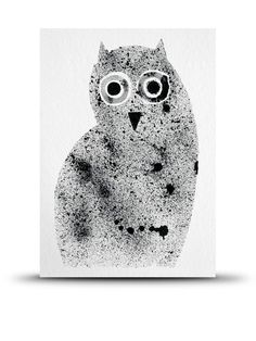 Night Owl Print A5 by Studio Arhoj