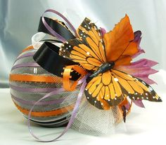 Monarch Butterfly Ornament Christmas Holiday Gift by LalaDangerous, $18.95