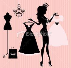 Princess Dresses Royalty Free Stock Vector Art Illustration