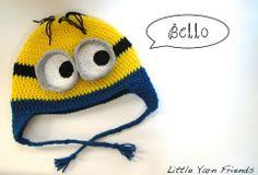 minion beanie crochet - Google Search