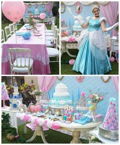 Princess Cinderella Birthday Party via Kara's Party Ideas