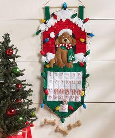Look what I found on #zulily! Dog Felt Advent Calendar Craft Kit #zulilyfinds