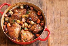 Beer-Braised Chicken with Root Vegetables