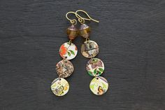 Mismatched Earrings with Czech Glass Beads by MusingTreeStudios