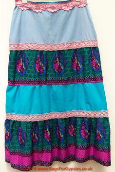 Eliza Multicoloured Tiered Flared Gypsy Long by RagsForGypsies