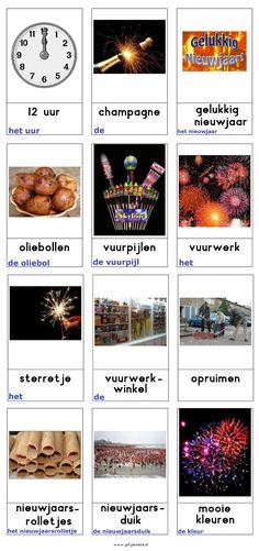 Woordkaarten : nieuwjaar December, Logo, Winter, Fun, Learning, Winter Time, Logos, Logo Type
