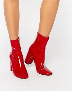 6799f3c80ad13 21 Best Red ankle boots images