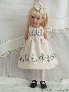 13-Effner-Little-Darling-BJD-brown-blue-3-pc-dress-OOAK-handmade-by-JEC . SOLD for $62.99 on 8/3/14
