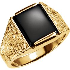 14kt Yellow Gold 12x10mm Cushion Men's Ring...(ST9242:8853:P).! Price: $439.99 #14kt #yellowgold #gold #ring #gemstone