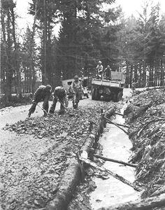 Engineers Repair a Road - Hurtgen Forest