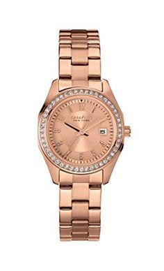 Caravelle New York Women's 44M103 Analog Display Analog Quartz Rose Gold Watch