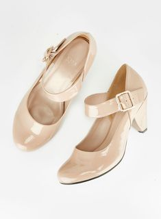 05c4e6c9bb0 Nude Cone Heel Shoes. evans.co.uk
