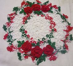 Christmas-holiday-crocheted-doily-by-Aeshagirl