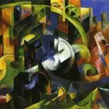 Picture with Cattle by Franz Marc