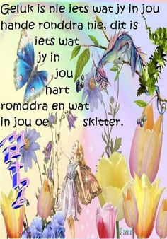 Geluk is nie iets wat jy in jou hande ronddr nie🎀 Afrikaanse Quotes, Religious Quotes, Strong Quotes, Color Splash, Inspirational Quotes, Motivational, Inspire Quotes, Fairies, Bathrooms