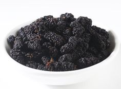 Dried organic black mulberries make a great snack straight from the bag or when added in fruit salads or trail mixes. Black mulberries are much more flavorful than their white counterparts with a mildly tangy flavor that is very delicious. Dried Berries, Granola Cereal, Fruit Juice, Fruit Salads, Nut Butter, Sun Dried, Raisin, Sweets, Organic